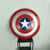 美国队长盾牌全金属1比1可手持电影版酒吧创意软装墙面上装饰挂件SN6347 大号60CM 大号60CM
