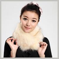 仿狐狸毛领子保暖假领子皮草围巾披肩围脖女冬季围脖领