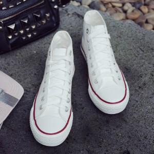 O'SHELL欧希尔新品138-CH-A82休闲平底女士男士情侣帆布鞋