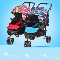 【支持礼品卡】双人多胞胎折叠双胞胎推车 双胞胎婴儿推车可拆分 g6q