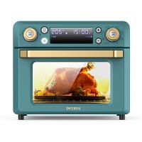 柏翠 (petrus )电烤箱空气炸锅一体机18L电子式家用风炉薯条机果干机 PE7980 复古绿