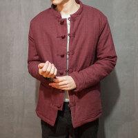 复古加厚棉袄冬装男棉衣外套立领中国风盘扣中式
