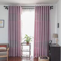 窗帘成品定制加厚全遮光窗帘阳台客厅落地窗打孔挂钩遮阳隔热窗帘