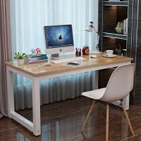 简易电脑桌台式桌家用简约现代钢木办公桌子双人桌写字台书桌