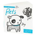【预订】Pets小小画廊 宠物 英文原版儿童绘本 亲子互动读物