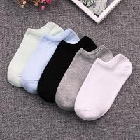 袜子女士纯棉短袜低帮浅口船袜糖果色黑白纯色运动袜短筒棉袜 .