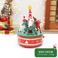 圣诞节装饰桌面摆件木质音乐盒八音盒圣诞节礼物创意小礼品送女友