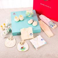 新生儿礼盒春秋套装初生婴儿衣服纯棉刚出生用品满月宝宝高档*