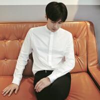 MRCYC 白衬衫男士长袖衬衣青年休闲宽松上衣潮男装衣服寸衫
