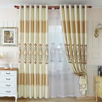 窗帘布欧式窗帘成品落地窗客厅简约现代卧室平面窗帘遮光欧式飘窗