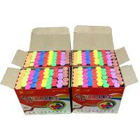 彩色粉笔 低尘儿童画粉笔 牌黑板报教学六角粉笔4盒G