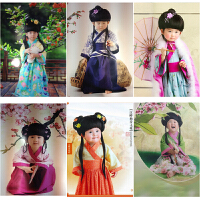 新款儿童演出服古装国学汉服男女小书摄影服装儿童小古装服装拍照
