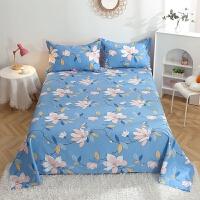 伊迪梦家纺 全棉单品单件床单 纯棉斜纹印花 简约条纹格子时尚风床上用品单人双人床大小规格床HC318