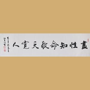 中国著名实力派青年书法家孙文波先生作品――尽性知命敬天宽人