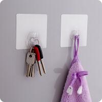 免钉无痕挂钩力粘胶透明墙壁壁挂衣服挂钩厨房创意粘钩