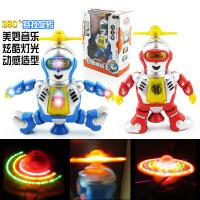 创意电动跳舞机器人 儿童灯光旋转音乐机器人模型玩具