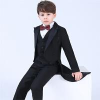 小主持人花童婚礼钢琴演出服男孩西装套装儿童礼服男童燕尾服宝宝