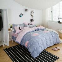 棉四件套床罩床裙式棉卡通1.5m/1.8米床单被套床裙笠罩4件套