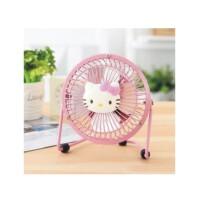 陆捌壹肆  Hello Kitty 桌面风扇 铁艺 卡通USB风扇 小风扇 迷你风扇 一个装