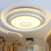 圆形led客厅灯大气水晶吸顶灯具 书房卧室灯现代简约餐厅灯饰