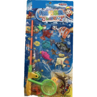 儿童早教大号磁性钓鱼套装玩沙戏水洗澡沙滩玩具保护钓鱼岛男女孩户外戏水玩具