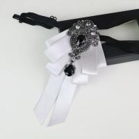 英伦韩版潮领结新郎结婚伴郎婚礼时尚红色领花男士正装潮流黑领结 浅灰色 V11-06
