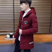 2017新款冬季棉衣男中长款韩版连帽加厚棉服男士外套学生棉袄潮流