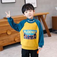 男童卫衣冬装新款童装儿童打底衫半高领上衣