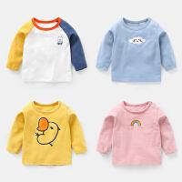 婴儿衣服男童长袖T恤儿童宝宝女打底衫上衣小童幼