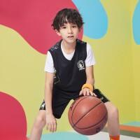 【1件5折到手预估价:74.6】儿童21夏新品男童篮球套装透气舒适男童运动套装亲肤柔软套装男