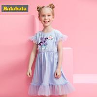 【小马宝莉IP款】巴拉巴拉女童连衣裙夏装新款儿童洋气裙子