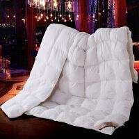 家纺2017秋冬款棉被子羽绒被加厚白鹅绒羽绒被芯全棉被子面包被保暖床上用品