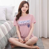 休闲睡衣女纯棉短袖短裤套装韩版女士卡通全棉大码学生家居服夏季