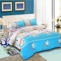 棉卡通叮当猫床上用品四件套KT猫哆啦A梦棉夏季被套三件套 天蓝色 叮当猫