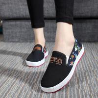 春夏老北京布鞋平跟软底学生鞋女鞋开车鞋低帮鞋休闲一脚蹬女单鞋 A307