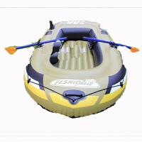渔人三人钓鱼船橡皮充气船皮划艇