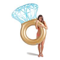 钻石戒指浮排 水上充气游泳圈 拍照道具 旅游摄影泳池浮床垫