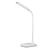 LED充电台灯护眼学习学生宿舍阅读工作触控可调光办公书桌小台灯 白色 【3瓦充电款】三档调光【自然光】