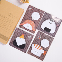 日本韩国文具 元气饭团日式食物创意空白留言便签本N次贴