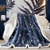 羊羔绒毛毯被子双层加厚保暖冬季珊瑚绒法兰绒毯子单双人午睡盖毯