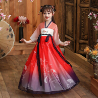 儿童古装女宝宝中国风唐装童装女公主连衣裙夏