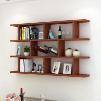 御目 置物架 创意酒架墙上壁挂墙壁柜吊柜现代简约书架子书柜墙架挂柜墙柜家具用品