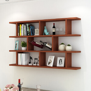 置物架 创意酒架墙上壁挂墙壁柜吊柜现代简约书架子书柜墙架挂柜墙柜家具用品