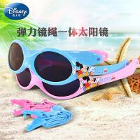 迪士尼儿童太阳镜婴儿防晒防紫外线墨镜宝宝太阳眼镜1-3岁0-6岁