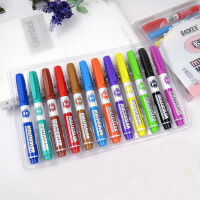 宝克MP3904彩色白板笔 12色 8色 圆头可擦POP笔易擦白板笔 水性笔