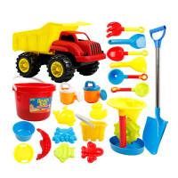 儿童沙滩玩具车套装宝宝玩沙子大号挖沙漏铲子婴儿洗澡决明子工具