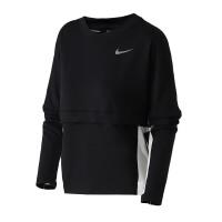 Nike耐克女装长袖T恤2019春季新款圆领针织袋鼠口袋休闲运动服AJ8672