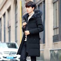 男士棉衣新款韩版潮流加绒加厚中长款帅气百搭棉袄冬季外套男