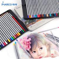马可水溶性48色专业彩色铅笔手绘36色美术绘画马克水溶彩铅套装