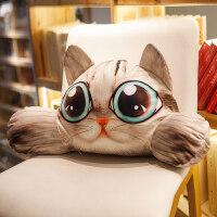卡通猫咪狗狗车载靠枕腰枕护腰座椅靠垫汽车办公室椅子腰靠可拆洗